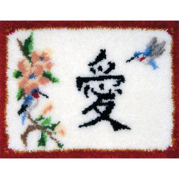 "Oriental Love Latch Hook Kit 27""X20"""