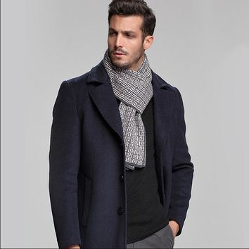 Plaid Men Scarf Winter Fashion Knitted Scarves Classical Plaid Scarf for Women Pure 100% Cashmere Scarves Tassel