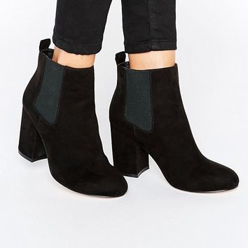 ASOS ROBYN Wide Fit Mid Heel Chelsea Boots at asos.com