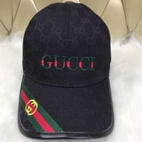 GUCCI 2018 summer new casual wild hat baseball cap cap visor F-3A30-LRWJ