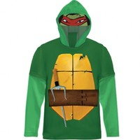 Teenage Mutant Ninja Turtles Green Costume T-shirt with Hood