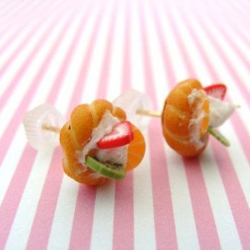 Kawaii Polymer Clay Miniature Mixed Summer Fruit by GirlOfThe80s