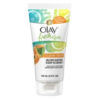 Olay Fresh Effects Clear Skin Acne Hater Deep Scrub Salicylic Acid Acne Treatment Deep Scrub 150ml (5.0 FL. OZ.)