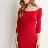 Wide Neck Bodycon Dress