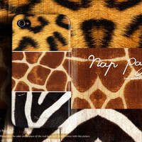 Apple iphone case for iphone iPhone 5 iphone 4 iphone 4s iphone 3Gs : Mixed animal fur Giraffe , zebra , leopard (Not real fur)