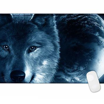 Wolf Rubber Gaming Mouse Pad Mat For PC Laptop Computer Large Size 900*400mm for game internet bar cs