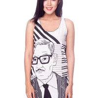 Bill Evans Shirt American Jazz Pianist Women Tank Top Black and White Shirts Tunic Top Vest Sleeveless Women T-Shirt Size S M