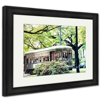 Framed Print, Tram Green Street Car In New Orleans USA March 2002