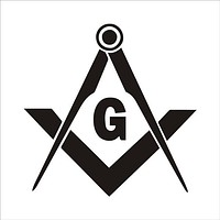 Original Vinyl Masonic Square Compass Car Stickers and Decals Car
