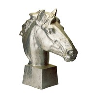 Gilded Age Horse Head Distressed Silver