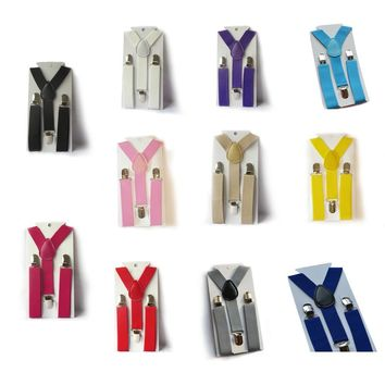 Cute Baby Boys Girl Clip on Suspender Y Back Child Elastic Suspenders Braces