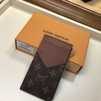 Kuyou Gb1986 Louis Vuitton Lv M64038 Monogram Taiga Leather Small Leather Goods Key & Card Holders Coin Card Holder