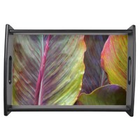 Color Leaves Serving Tray