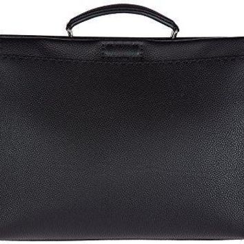 Fendi Men's Leather Bag Handbag Cross Body Messenger Peekaboo Eye Monster Black