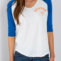 Junk Food Clothing - NFL Denver Broncos Raglan - NFL - Collections - Womens