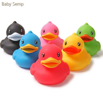 Rubby Toy Animals 2017 New Bath Shower Toy For Child Kids Baby Swim Toys Duck Bathroom Classic Toys Squeeze Sounding Bathtoys