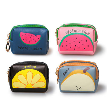 Cute Fruit Print Coin Case