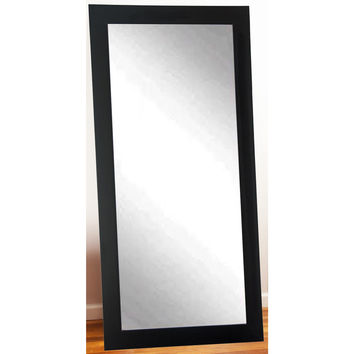 "Brandt Works Matte Black Floor Mirror BM002TS 32""x66"""