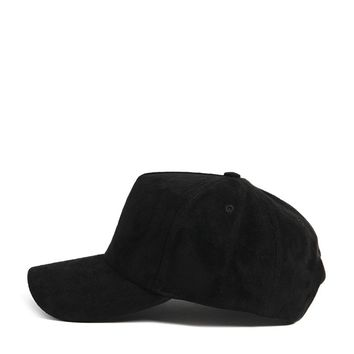 Men Faux Suede Dad Cap