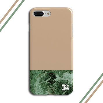 Huzelnut x Green Marble Two Toned Phone Case, iPhone 7, iPhone 7 Plus, Tough iPhone Case, Galaxy S7, Samsung Galaxy Case, CASE ESCAPE