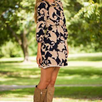 It's A New Day Dress, Navy