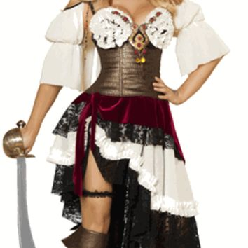 Sexy Treasure Island Pirate Girl Halloween Costume