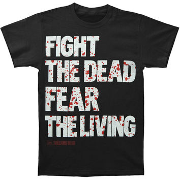 Walking Dead Men's  Fight The Dead T-shirt Black Rockabilia