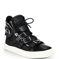 Giuseppe Zanotti - Multistrap Double-Zip High-Top Sneakers - Saks Fifth Avenue Mobile