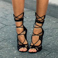 Gladiator High Heels Sandal