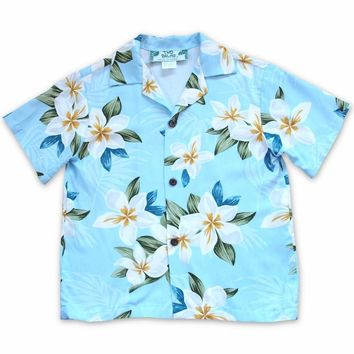 Escape Blue Hawaiian Boy Shirt
