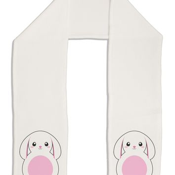 "TooLoud Cute Bunny with Floppy Ears - Pink Adult Fleece 64"" Scarf"