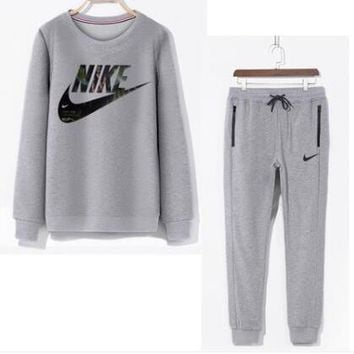 NIKE Men Casual Sport Top Sweater Pullover Pants Trousers Set Two-Piece