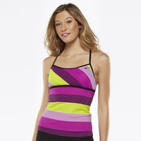 Nike Striped Racerback Tankini Top