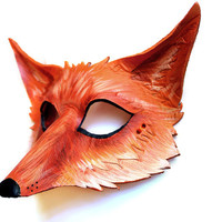"Red Fox ""Vulpes Vulpes"" - MADE TO ORDER leather mask"