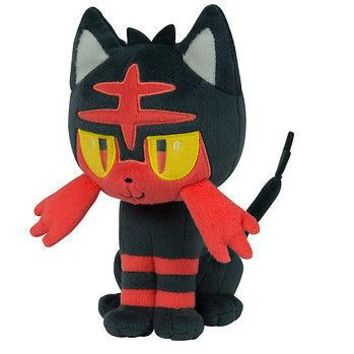 "Tomy Pokemon Sun & Moon Litten 8"" Basic Plush Authentic New US Seller USA"