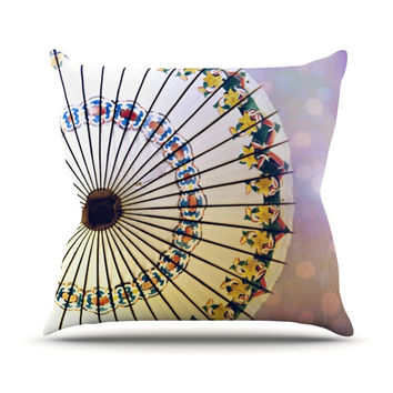 "Sylvia Cook ""Parasol"" Throw Pillow"