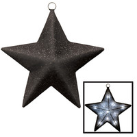 Awards Night Light-Up Sparkle Star Black - 16""