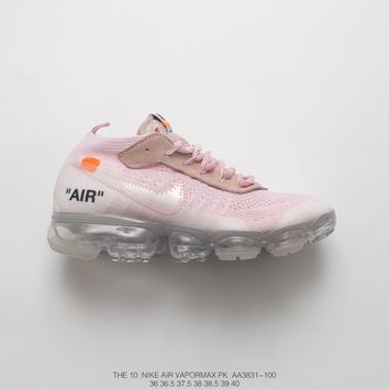 [ Free  Shipping ] OFF-WHITE x Nike Air VaporMax 2.0 Pink  Running  Shoes