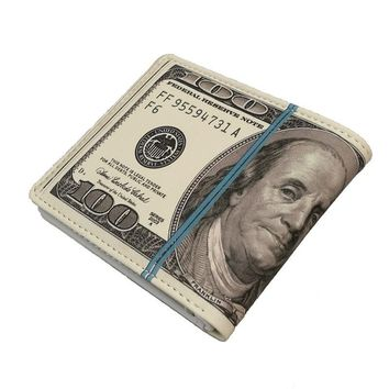 Cute Bifold 100 US Dollar Money Purse New Design Novelty Funny Gift Boys Child Young Male Men Wallet Women Coin Pouch Purse Kids