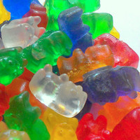 Rainbow Gummy Bear Soap Set with Sweet Tutti-Frutti Scent