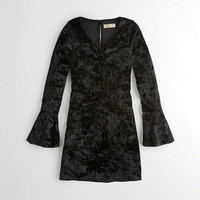 Girls Bell-Sleeve Strappy Velvet Dress | Girls New Arrivals | HollisterCo.com