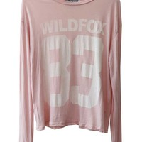 Wildfox Couture Wildfox 83 Evening Long Sleeve Crew in Barefoot