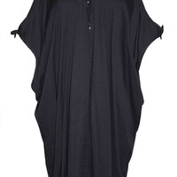 Paradise Black Kaftan Dress