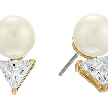 Kate Spade New York Bright Ideas Triangle Pearl Stud Earrings