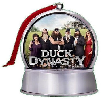cool NEW Duck Dynasty SnowGlobe Magnet Holiday Tree Ornament