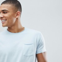 Solid T-Shirt In Blue at asos.com