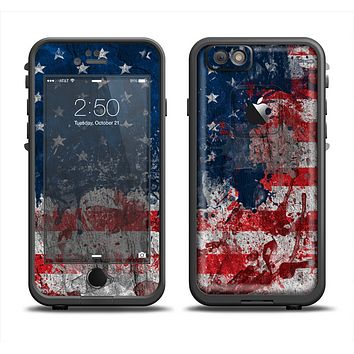 The Grungy American Flag Apple iPhone 6/6s LifeProof Fre Case Skin Set