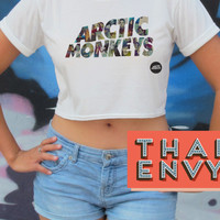 Arctic Monkeys Band Crop Top - Indie Alternative Music T Shirts