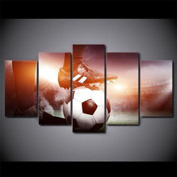 Soccer Ball Cleats Player Wall Art Canvas Print Framed UNframed