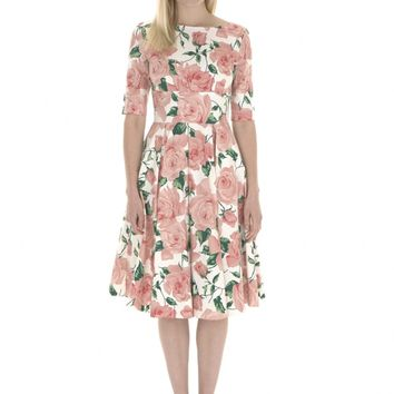 The Pretty Dress Company Hepburn Dress in Sorrento Print